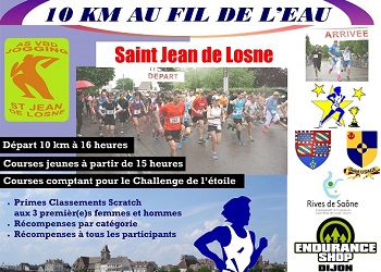 Photo de 10 km Courir au fil de l'eau 2020, Saint-Jean-de-Losne (Cote d'Or)