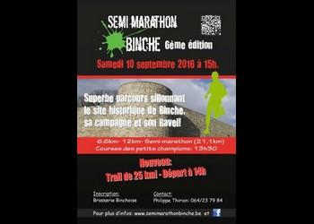 Photo of 10 dossards à gagner pour le semi-marathon de Binche 2016 (BEL)
