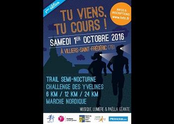 Photo of 3 dossards à gagner pour Tu Viens Tu Cours 2016, trail semi-nocturne (Yvelines)