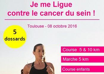 Photo of 5 dossards pour les 10 km Je me Ligue contre le cancer du sein 2016, Toulouse
