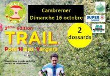 2 dossards pour le Trail Pom'haies vergers 2016 (Calvados)