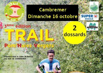 Photo of 2 dossards pour le Trail Pom'haies vergers 2016 (Calvados)