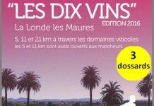 3 dossards pour Les Dix Vins, course nature (Var)