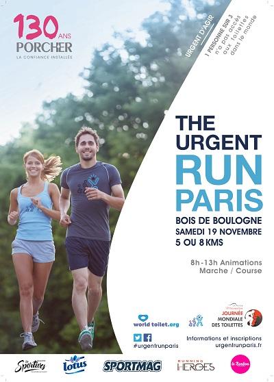 20 dossards pour l'Urgent Run Paris 2016