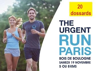 Photo de 20 dossards pour l'Urgent Run Paris 2016