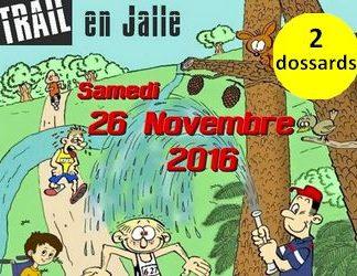 2 dossards pour le Trail en Jalle 2016, Saint Jean d'Illac (Gironde)