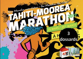 Photo of 3 dossards pour la Color Run 5 km du Tahiti-Moorea Marathon 2017