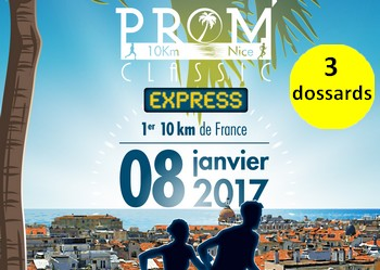 Photo of 3 dossards pour la Prom'Classic de Nice 2017 (10 km)