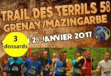 3 dossards pour le Trail des Terrils 58, Grenay 2017