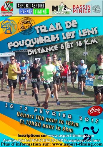 3 dossards pour le Trail de Fouquières les Lens 2017
