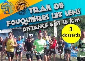 Photo of 3 dossards pour le Trail de Fouquières les Lens 2017 (Pas-de-Calais)