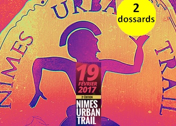 Photo of 2 dossards pour le Nîmes Urban Trail 2017 (Gard)