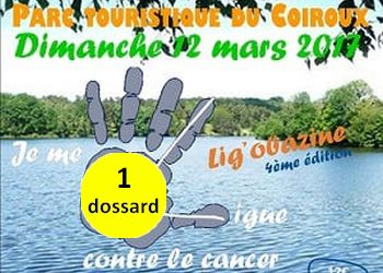Photo of 1 dossard pour la Ligobazine course  nature contre le cancer 2017 (Corrèze)