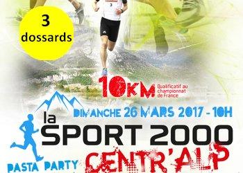 Photo of 3 dossards pour les 10 km Sport 2000 Moirans 2017 (Isère)