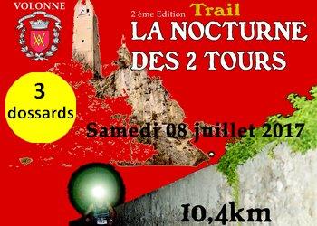 Photo of 3 dossards pour le Trail nocturne des 2 Tours 2017 (PACA)