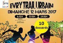 10 dossards pour l'Evry Trail Urbain 2017