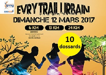 Photo of 10 dossards pour l'Evry Trail Urbain 2017
