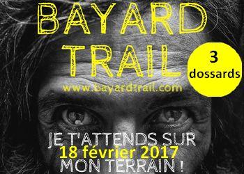 Photo of 3 dossards pour le Bayard Trail 2017, nocturne, Gap (Hautes Alpes)