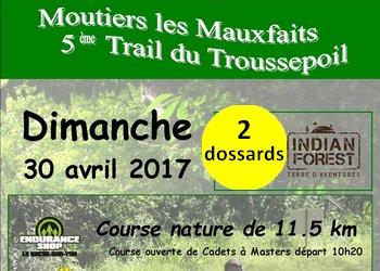 Photo of 2 dossards Trail du Troussepoil 2017 (Vendée)