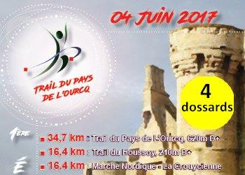 Photo of 4 dossards Trail du Pays de l'Ourcq 2017 (Seine et Marne)