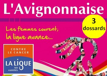 Photo of 3 dossards pour l'Avignonnaise 2017 (Vaucluse)