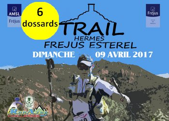 Photo of 6 dossards pour le Trail Hermes 2017 (Var)