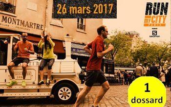 1 dossard pour Run My City Paris 2017