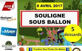 5 dossards pour le 5 km des Foulées des portes du Maine 2017 (Sarthe)