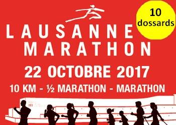 Photo of 10 dossards pour les 10 km, semi et marathon de Lausanne 2017