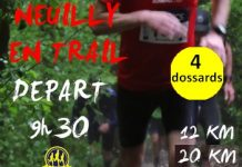 4 dossards pour Neuilly en Trail 2017 (Oise)