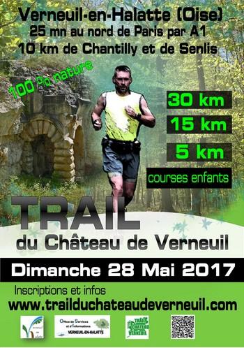 3 dossards Trail du Château de Verneuil 2017 (Oise)