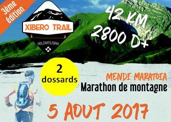Photo of 2 dossards Xibero Trail 2017, à Larrau (Pyrénées Atlantiques)
