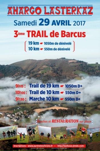 3 dossards Trail de Barcus 2017 (Pyrénées Atlantiques)