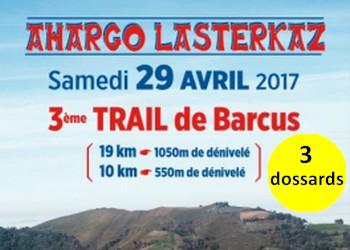 Photo of 3 dossards Trail de Barcus 2017 (Pyrénées Atlantiques)