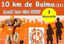 3 dossards pour les 10 km de Balma 2017 (Haute-Garonne)