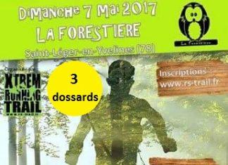 3 dossards pour la Forestière de Saint-Léger en Yvelines 2017