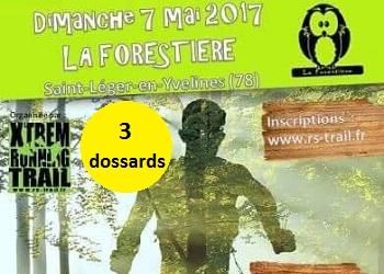 Photo of 3 dossards pour la Forestière de Saint-Léger en Yvelines 2017