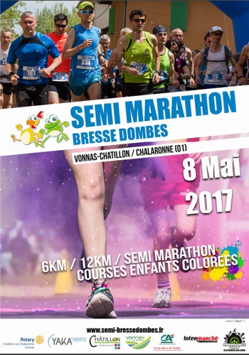 6 dossards Semi-marathon & 12 km Bresse Dombes 2017 (Ain)