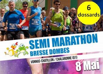 Photo of 6 dossards Semi-marathon & 12 km Bresse Dombes 2017 (Ain)