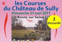 2 dossards Courses du Château de Sully 2017 (Yvelines)