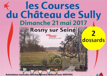 Photo of 2 dossards Courses du Château de Sully 2017 (Yvelines)