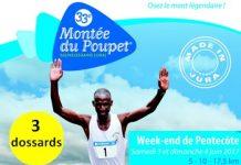 3 dossards Montée du Poupet 2017 (Jura)