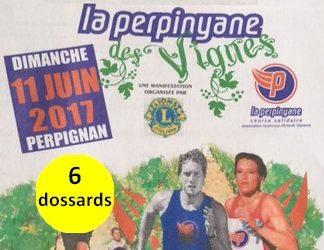 6 dossards Perpinyane des Vignes 2017 (Pyrénées Orientales)