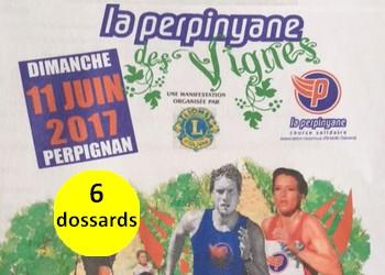 Photo de 6 dossards Perpinyane des Vignes 2017 (Pyrénées Orientales)