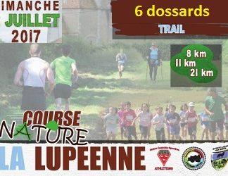 6 dossards La Lupéenne 2017 (Nièvre)