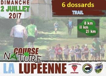 Photo of 6 dossards La Lupéenne 2017 (Nièvre)