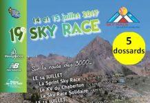 5 dossards Sky Race New Balance Montgenèvre 2017 (Hautes Alpes)