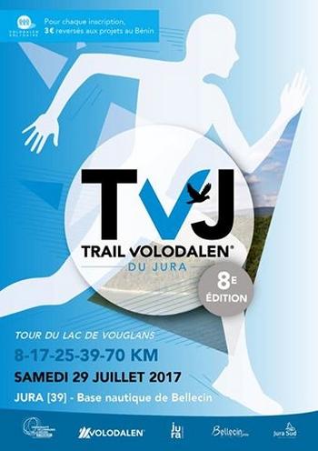 4 dossards Trail Volodalen du Jura 2017