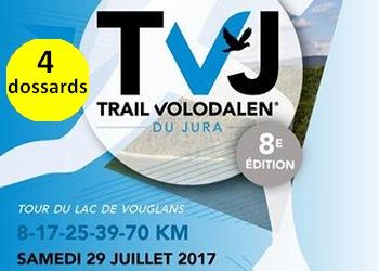 Photo de 4 dossards Trail Volodalen du Jura 2017
