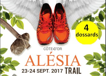 Photo of 4 dossards Alesia Trail 2017 (Côte d'Or)